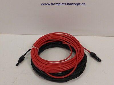 Photovoltaik Solarkabel Anschlusskabel Kabel rot + sw 8m 4mm² MC4 Stecker