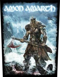 OFFICIAL LICENSED - AMON AMARTH - JOMSVIKING SEW ON BACK PATCH VIKING METAL