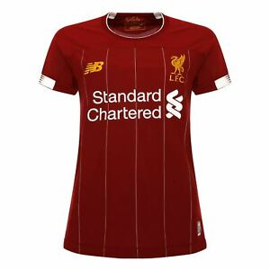 new style 41431 14b29 Details about Liverpool FC Home Kit Red Polyester Womens Football Shirt  19/20 LFC Official