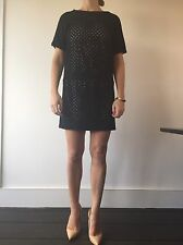 Tibi Designer - Sold Out *rare* Polka Dot Holes Wool Dress Size UK 12, US 8