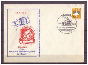 DDR-Sou-25-Annees-Premier-Sirena-Avion-au-Depart-Yuri-Gagarine-Sst-Erfurt-1986