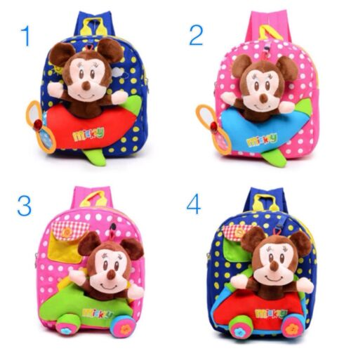 Lovely Mickey Mouse Kindergarten Schoolbags Backpack for Kids 1-5 Years Old