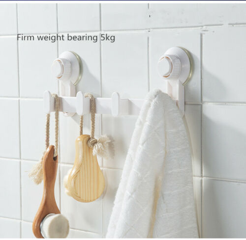 Seamless Portable Suction Cup Hook Kitchen Wall-Mounted Simple Storage Shelf