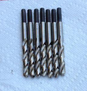 """Metal Working Drill Bit 6 PCS 19/64"""" X 1/4""""(.265"""") Bright  3-1/2 OAL Brazil"""