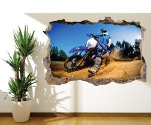 Dirt Bike racer motorbike photo wall sticker wall mural 16711228