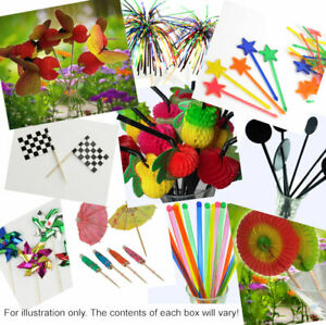Clearance-Bundle-10-packs-of-cocktail-party-decorations-stirrers-picks-straws