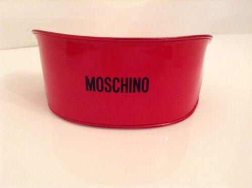 LOTTO N. 100% Auth MOSCHINO, Rosso Hard Occhiali/Occhiali da sole caso con logo.