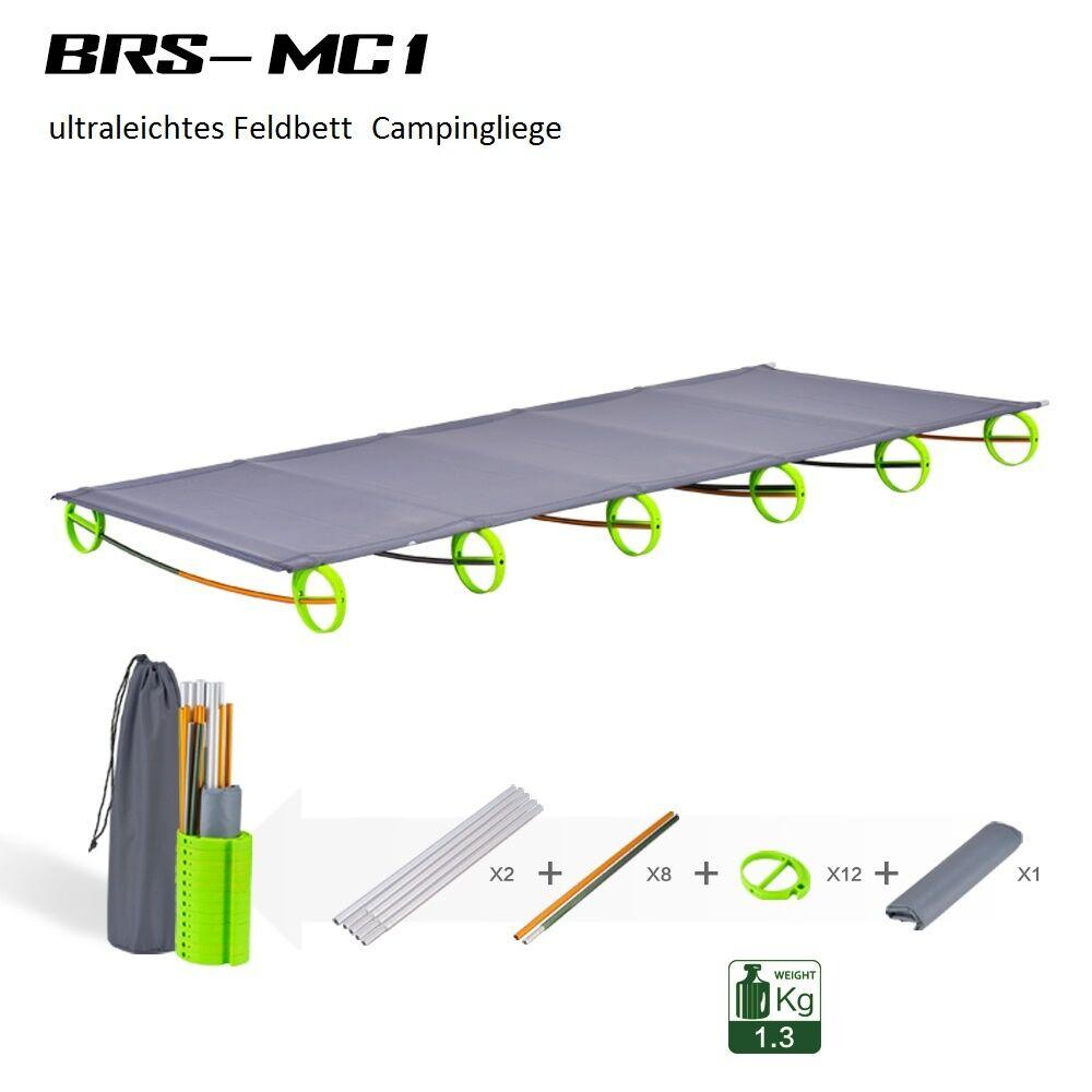 Brs portátiles camping tumbona cama de campo pesCoche bastidor de aluminio 180x58x10 cm PVP 240