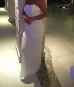 Details About Davids Bridal Full Length White Wedding Dress Size 12 Uk David S Bridal Size 8