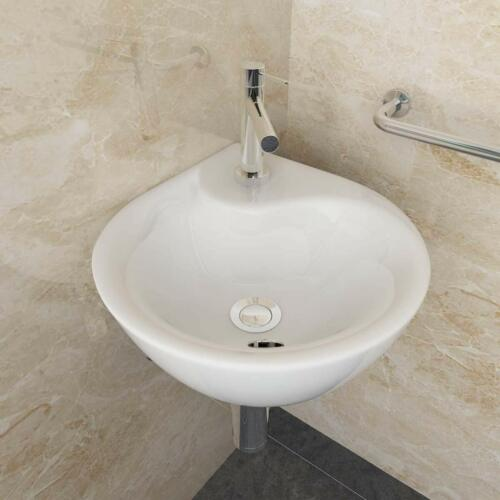 Hängewaschbecken Handwaschbecken Keramik Waschbecken Bad WC 34x34x15 cm WS81
