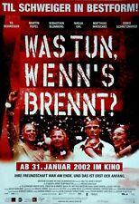 WAS TUN WENN'S BRENNT - 2002 - Filmplakat - Schweiger - Uhl - Löwitsch
