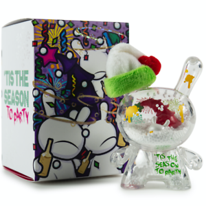 Kidrobot Holiday Party 3 Inch Plastic Dunny by JEC Limited Edition 200 SOLD OUT