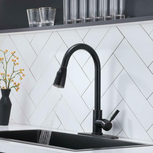 Single Handle Kitchen Faucet Pull Out Swivel Spout Mixet Tap Oil Rubbed Bronze