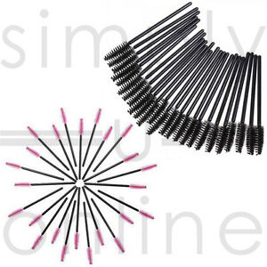 Disposable-Eyelash-Mini-Brush-Mascara-Wands-Applicator-Spoolie-Black-amp-Pink