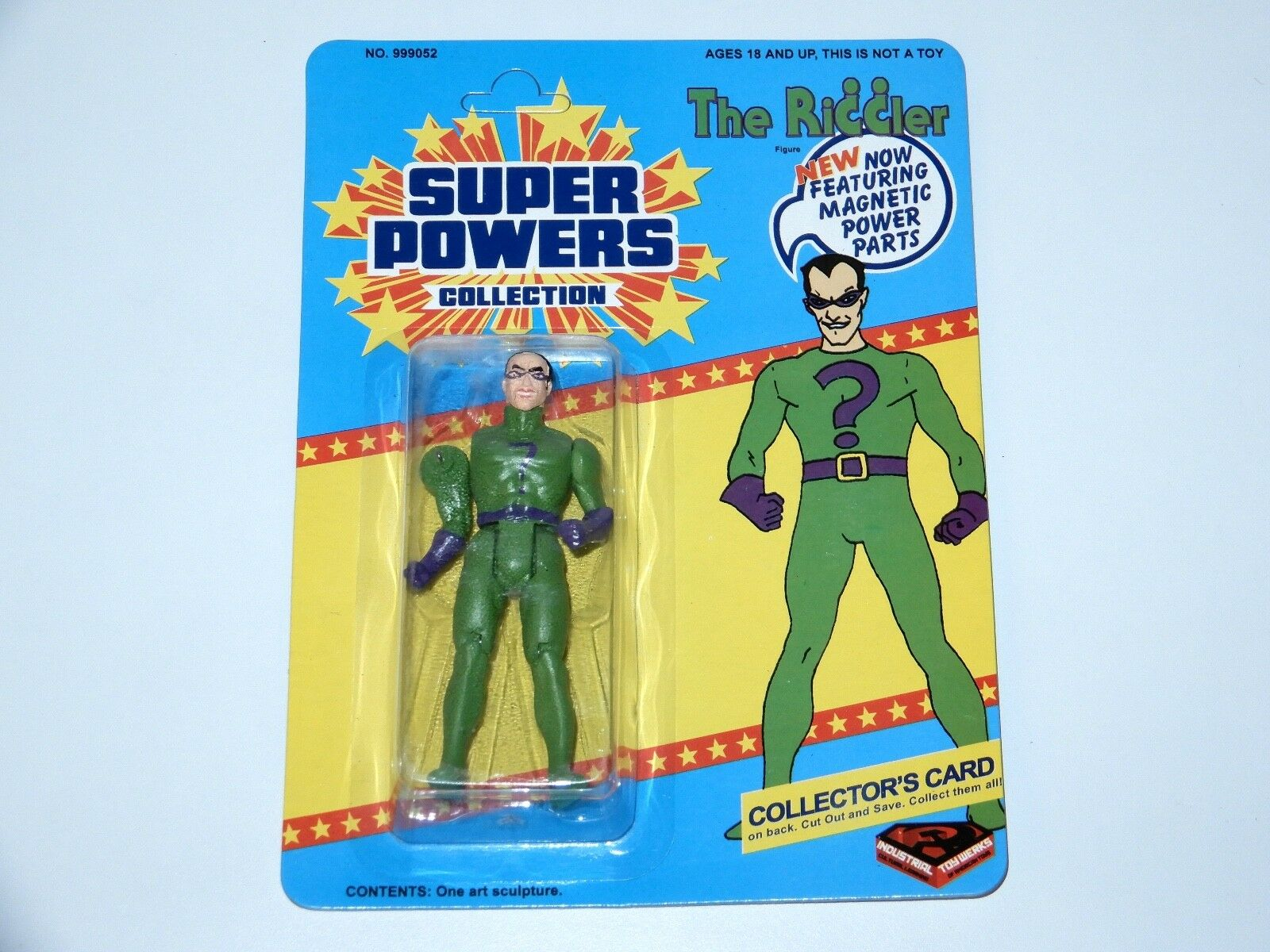 MARVEL DC SUPER POWERS COLLECTION 'THE RIDDLER' MOSC ITW INDUSTRIAL TOY WERKS