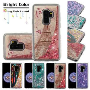 meet 6a021 18c3a Details about For Samsung Galaxy S9/S8/Plus Bling Liquid Glitter Protective  Phone Case Cover