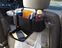 Back Auto Seat Organizer Tray Car Accessory Kids Vacation Clean Comfort No Spill