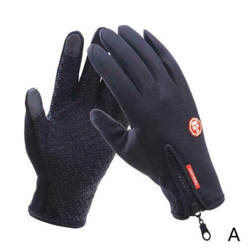 Waterproof Gloves Unisex Winter Outdoor Windproof Zipper Gloves Sports Ridi Q9E0