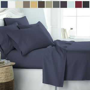 Home Collection Hypoallergenic Wrinkle Free 6 Piece Premium Bed Sheet Set