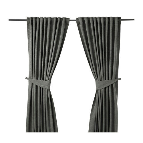 Gardinen Grau IKEA BLEKVIVA