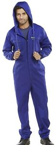 Click-Super-Royal-Blue-Polycotton-Hooded-Work-Overalls-Coveralls-Boiler-Suit-New