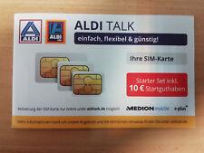 Aldi Talk Starter Set inkl. 10€ Startguthaben - kostenloser Versand! Unbenutzt