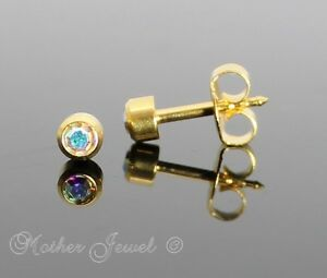 Image Is Loading 4mm Lock Back 24ct Gold Plated Studex S
