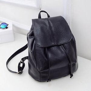 Damen-City-Rucksack-Backpack-Schultertasche-Leder-optik-Reise-Bag-Freizeittasche