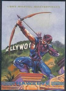 1993-Marvel-Masterpieces-Trading-Card-70-Hawkeye
