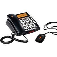 Telephone Fixe Grosses Touches Clavier Ecran Lcd Sonnerie Led Visuelle Memoires