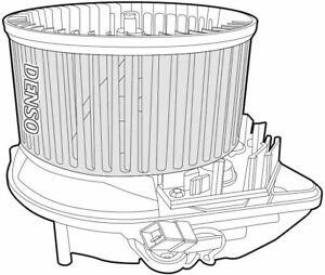Denso Cabine Ventilateur / Moteur Pour Citroen Jumpy Box 1.9