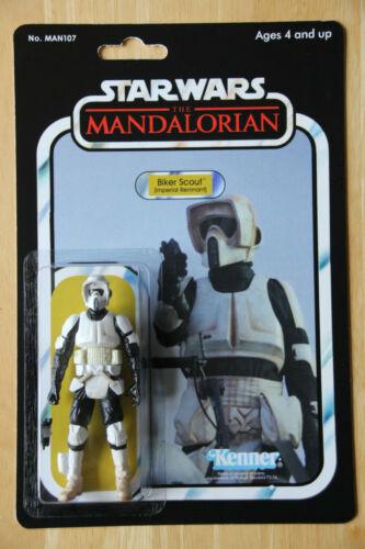 Mandalorien Remnant Biker Scout-Custom Vintage cardback-veuillez lire!
