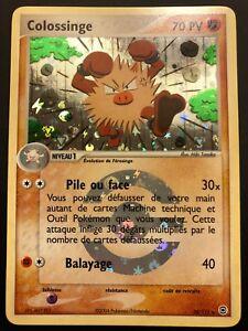Carte-Pokemon-COLOSSINGE-28-112-Holo-Reverse-Rouge-Feu-Vert-Feuille-FR-NEUF