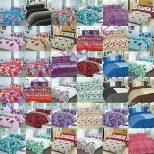 New-Duvet-Cover-Bedding-Set-with-Pillow-Cases-dans-Single-Double-King-amp-S-King