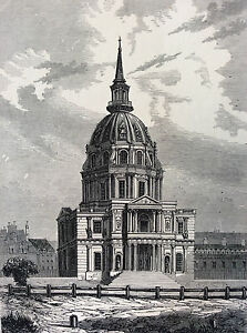 Paris-the-Invalides-Print-of-1856-France