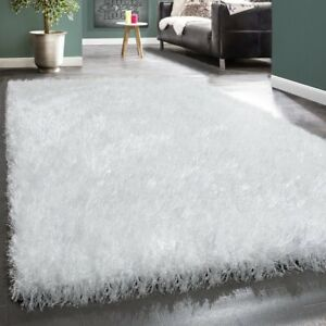 Small Extra Large White Fluffy Rug Deep