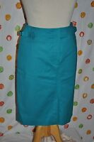 Eccoci Carlisle 2 Escape Blue Cotton Blend Lined Skirt $$$$ Free Shipping