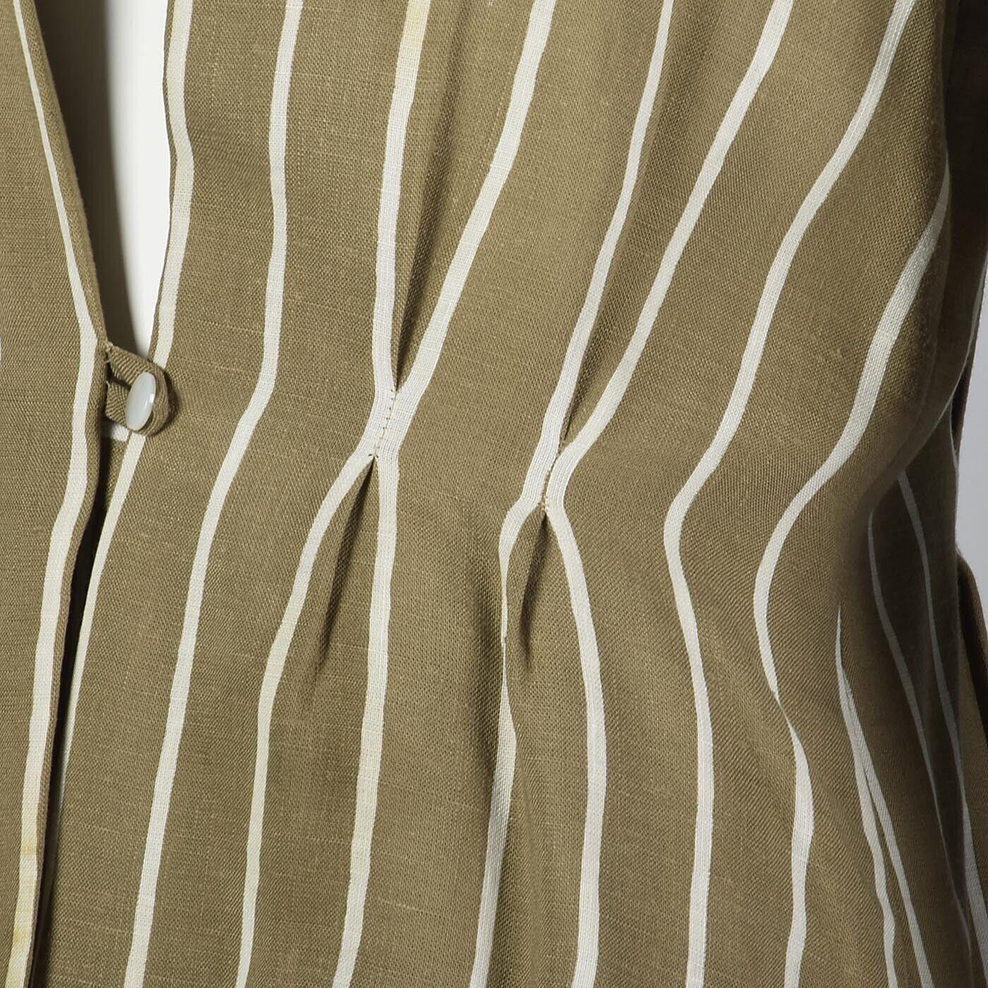 L Vintage 1980s 80s Pauline Trigere Striped Skirt… - image 11