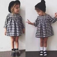Kids Toddlers Girls Clothing Princess Long Sleeve Tutu Dress Skirt Ages Size1-6Y