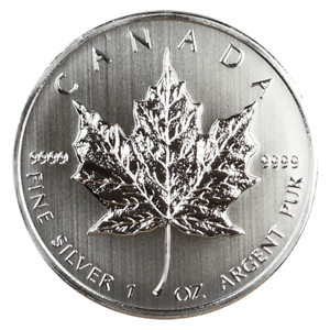 Brilliant Uncirculated 2013 $5 Silver Canadian Maple Leaf 1oz.