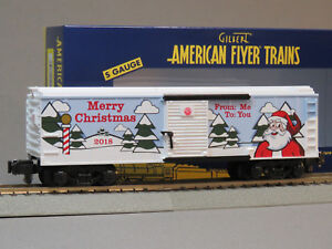 LIONEL AMERICAN FLYER 2018 CHRISTMAS BOXCAR S GAUGE AF 2 rail train 6-44129 NEW
