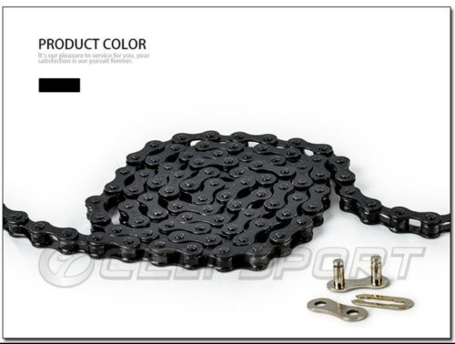Bike Chain Durable Single Speed Steel Fixed Gear Track Bike BMX 98L with Magic