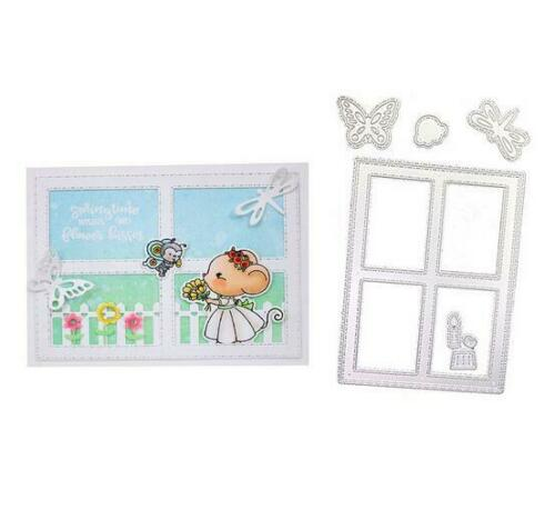 Metal Cutting Dies Scrapbooking Butterfly Embossing Insect Candle Window Frame