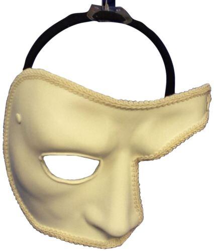 Deluxe Bianco Viso Carnevale Halloween Maschera Fantasma dell/'Opera Costume Mezza Maschera