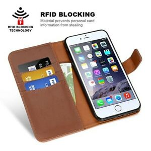 iPhone-8-Wallet-7-Case-Premium-Credit-Card-Slots-Pockets-Magnetic-Leather-Brown