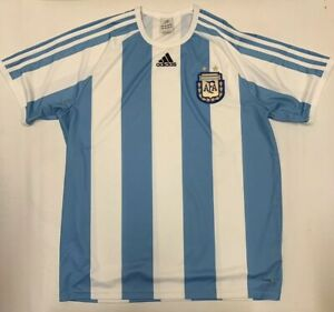 adidas Argentina AFA National Team Soccer Jersey Men Large Leo Messi ... 3d41cf8d1