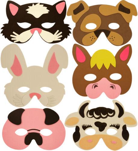 Costume Schiuma Giungla Zoo Fattoria Insetto Animale Pirata maschere PARTY BORSA FILLER