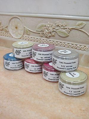 7 bottles THK 20 Gram Diamond polishing lapping paste pastes compound 0.25 - 5 U