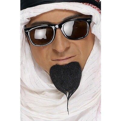 Da Uomo Arabo Costume Barba Autoadesivo Arabo Sceicco Nero Da Smiffys