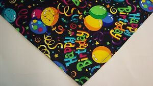Dog-Bandana-Scarf-Tie-On-Happy-Birthday-Custom-Made-by-Linda-Xs-S-M-L-XL